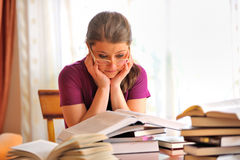 Girl studying Stock Image