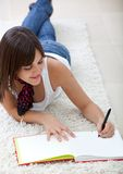 Girl studying at home Royalty Free Stock Photography