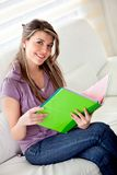 Girl studying at home Royalty Free Stock Image