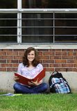 GIrl studying outside Stock Photos