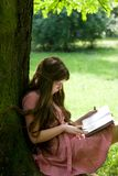 Girl studying in the park Royalty Free Stock Photography