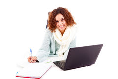 Girl studying Stock Photography