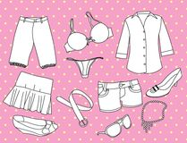 Girl stuff Stock Photos