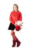 Girl with stuffed animal Stock Image