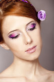 Girl with style make-up. Royalty Free Stock Photo