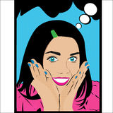 The girl in style pop art Royalty Free Stock Images