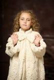 Girl in a stylish coat Stock Photo