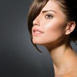 Girl with Stylish Fringe Stock Image