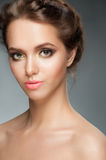 Girl with stylish makeup royalty free stock photography