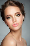 Girl with stylish makeup Royalty Free Stock Images
