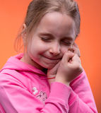 Girl suffering from a toothache Stock Photo