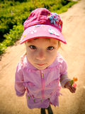 Girl with sugar candies Royalty Free Stock Image