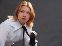 Girl in suit Royalty Free Stock Image