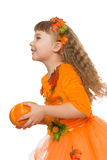 Girl suit autumn Royalty Free Stock Photography