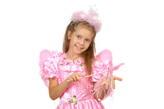 Girl in a suit of the fairy. Royalty Free Stock Photo