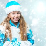 Girl in suit Snow Maiden Stock Images