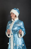 Girl in suit Snow Maiden Stock Image