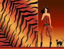 Girl in a suit tigress Stock Photos