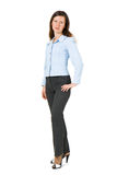 Girl in a suit on a white background Royalty Free Stock Photography