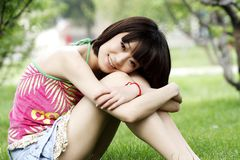Girl in summer. Royalty Free Stock Image