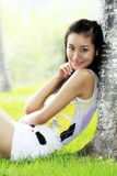 Girl in summer. Stock Photo