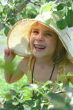 The girl and summer. The little girl rejoices to summer day royalty free stock photos