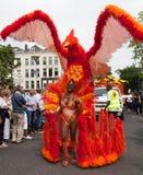 Girl in summer carnival parade 2012 Stock Image
