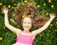 Girl at summer Stock Photography