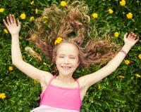 Girl at summer Stock Photography