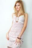 Girl in summer dress Stock Photos
