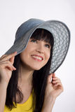 Girl in a summer hat Royalty Free Stock Photography