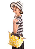 Girl With Summer Hat, And Handbag VI Stock Photos