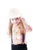 Girl in a summer hat Royalty Free Stock Photos