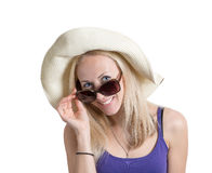 girl with summer mood Royalty Free Stock Photo