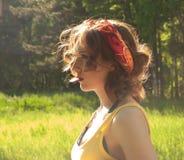 Girl, Summer, Sun, Stroll, Sunset Stock Photo