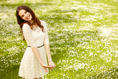 Girl on a summer time Stock Images