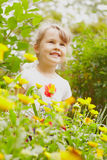 Girl in summer Royalty Free Stock Image