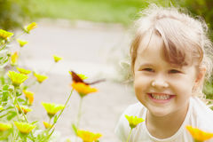 Girl in summer a Royalty Free Stock Image