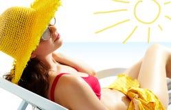 Girl in the sun Royalty Free Stock Photo