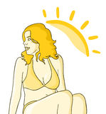 Girl sun Royalty Free Stock Image