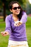 Girl in sun glasses royalty free stock photo