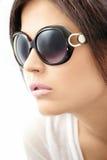 Girl in sun glasses stock photo