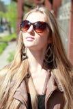 Girl in sun glasses Stock Photography