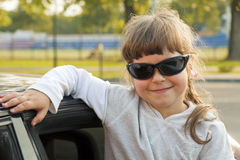 The girl in sun glasses Stock Photo