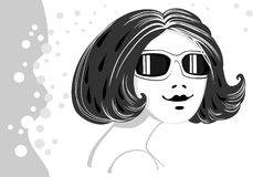 Girl in sun glasses Stock Photos