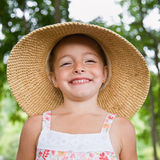 Girl in sun-hat Royalty Free Stock Photos