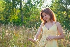 Girl in sun Royalty Free Stock Image