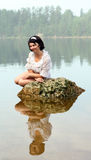Girl sunbathes Royalty Free Stock Image