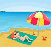 Girl sunbathing Royalty Free Stock Photo