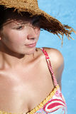 Girl Sunbathing Royalty Free Stock Photo